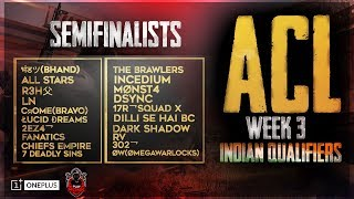 ACL | Indian Qualifiers Semi-Finals | OnePlus | Playmonk | K18 *2 min delay*