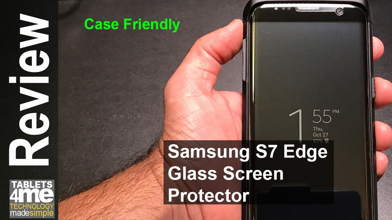 best website d3979 021f9 Samsung Galaxy S7 Edge Case frinedly Glass Screen Protector from TANAAB
