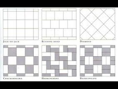Floor tile patterns tile flooring patterns and layouts youtube Bathroom wall tiles laying designs