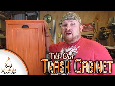Make A Tilt Out Trash Cabinet