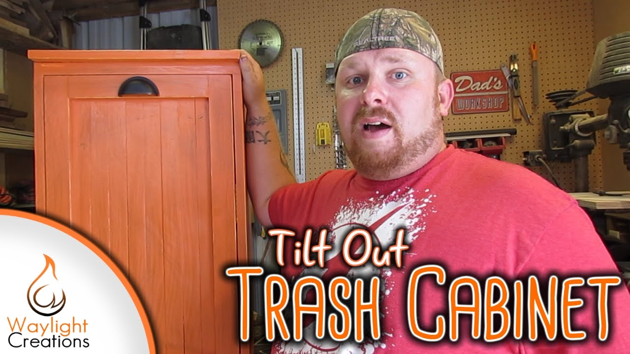 Genial Make A Tilt Out Trash Cabinet