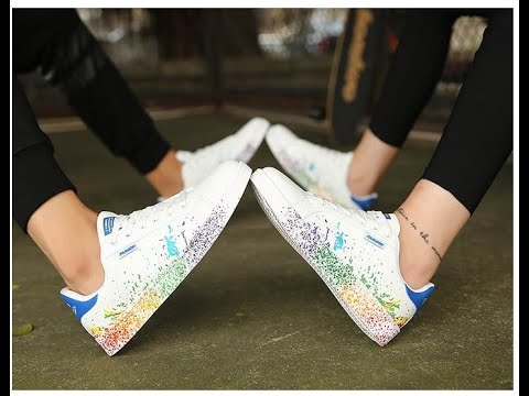 Couple Unisex Colorful Flat Casual Sports Shoes Sneakers