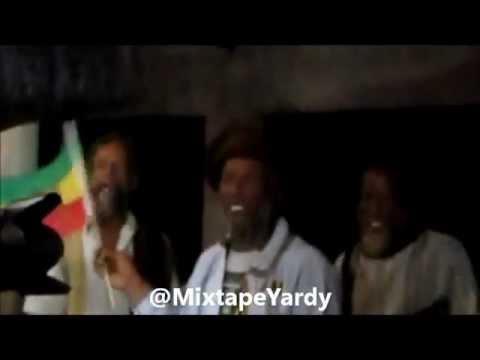 Snoop Lion in Jamaica meditating with Nyabinghi Rastas