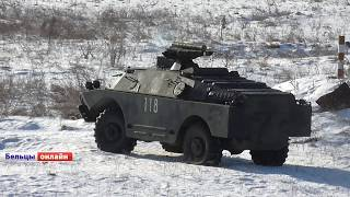 Учения артиллеристов на военном полигоне у села Елизавета