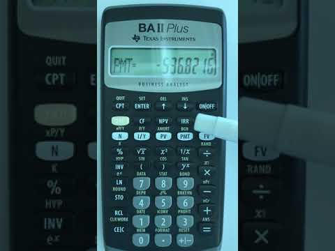 TI BA II Plus 30 Year Fixed Rate Mortgage Monthly Payment Calculation