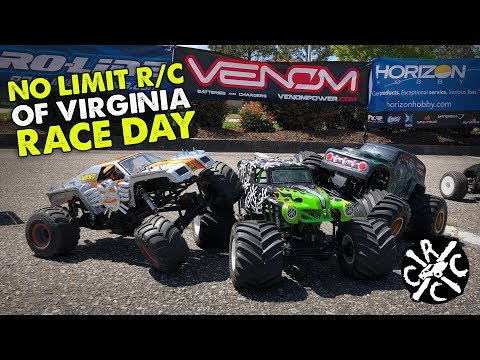 RC Monster Truck Racing With No Limit R/C of Virginia - April 21, 2018 at VA Beach Hobbytown