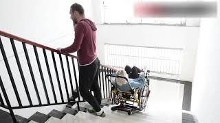 Лестничный подъемник для инвалидной коляскиэлектрический 11-С