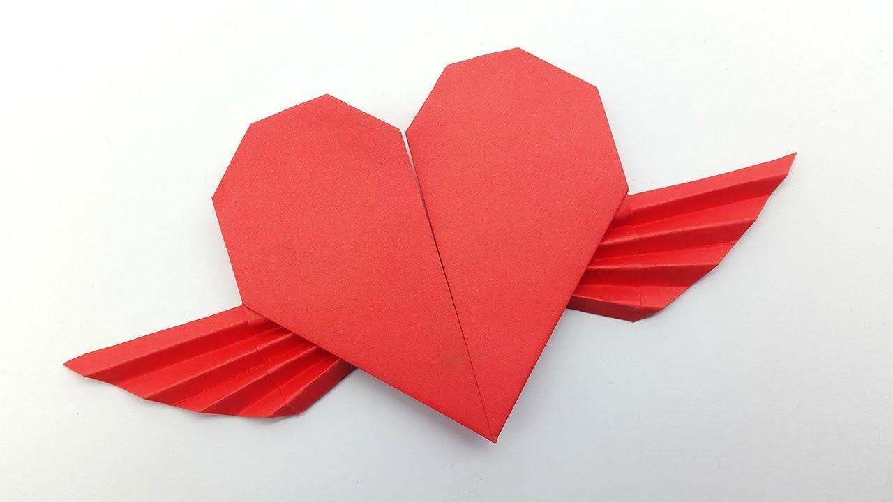 3D Origami Lucky Heart Tutorial - DIY Hearts - Paper Kawaii - YouTube | 720x1280