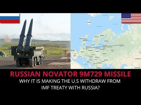 RUSSIAN NOVATOR 9M729 MISSILE - INF TREATY BREAKER