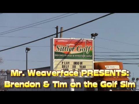The E6 Realistic Indoor Full Swing Golf Simulator: Brendon & Tim at the Golf Sim!