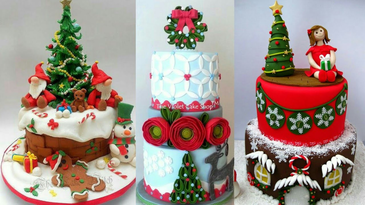 Wow Christmas 2020 Youtube Wow 😍 the most beautiful & unique Christmas cake decoration ideas