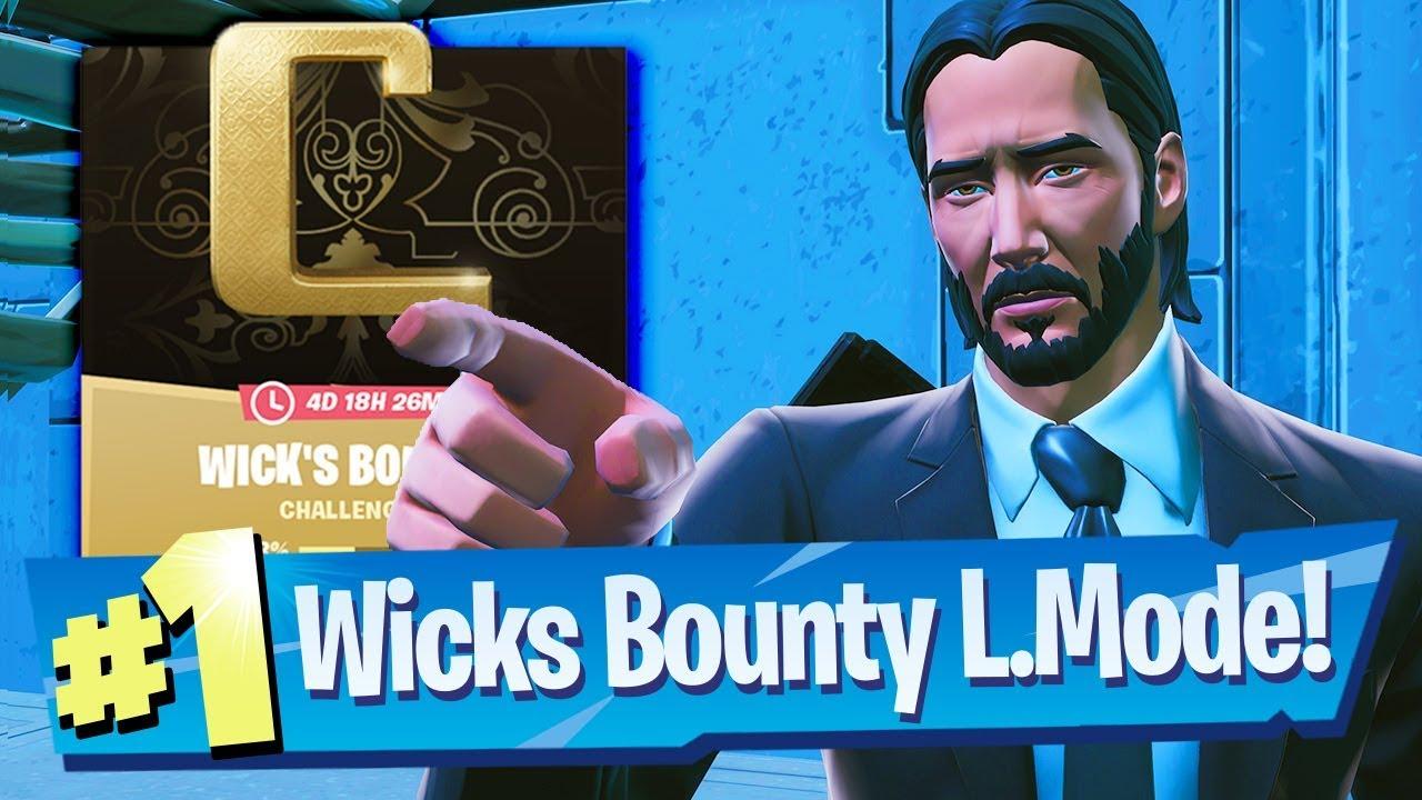 John Wick's Bounty LTM Gameplay + Challenges - Fortnite Battle Royale
