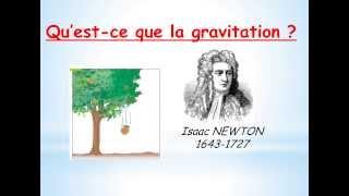 Qu'est-ce que la gravitation ?