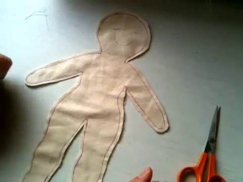 Cloth Doll Tutorial 3: Cutting Around The Doll And Snips
