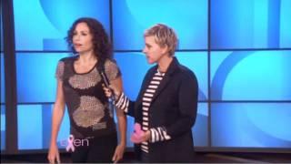 [HD] Minnie Driver Dunk Tanked On Ellen Show 10/13/2010
