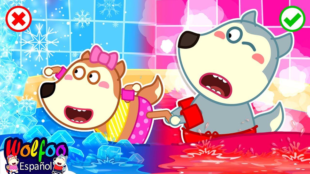 ¡Wolfoo! Juega seguro con Caliente vs Frío de Baño  Video de Wolfoo para niños   Wolfoo en español