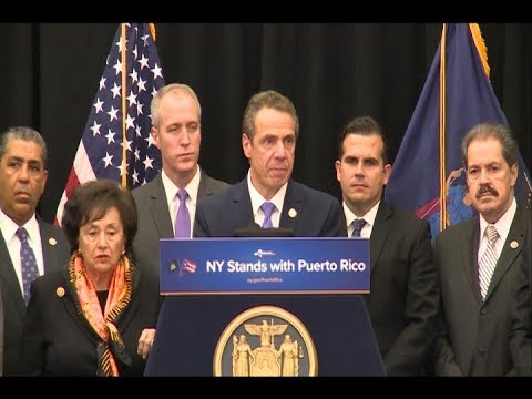 Governor Cuomo Holds Briefing With Governor Rosselló And New York Congressional Delegation