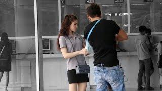 จีบสาว มุขจีบนักศึกษามหาลัย | HOW TO PICK UP GIRLS WITH A BROKEN ARM (In Thai) | BANGKOK THAILAND