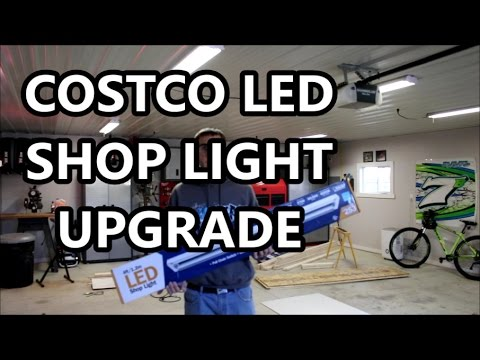 Upgraded To Costco Led Shop Lights In My Garage Youtube