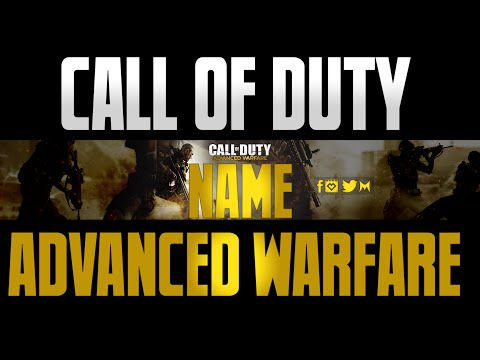 Call of duty Advanced Warfare Channel art template