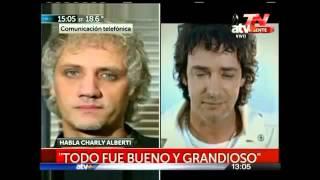 CHARLY ALBERTI LLORO POR LA MUERTE DE GUSTAVO CERATI 04/09/14