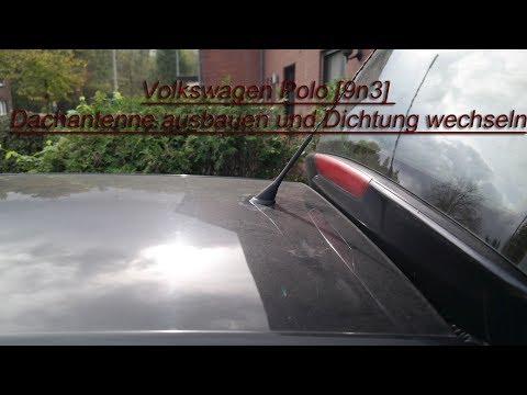 Volkswagen Polo [9n3] Dachantenne Ausbauen Und Dichtung Wechseln