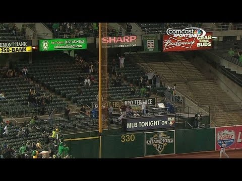 Young misses walk-off on reviewed foul ball