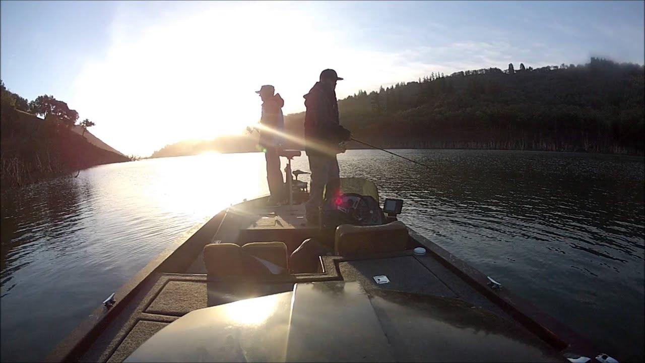 Lake sonoma winter fishing 2 youtube for Lake sonoma fishing report