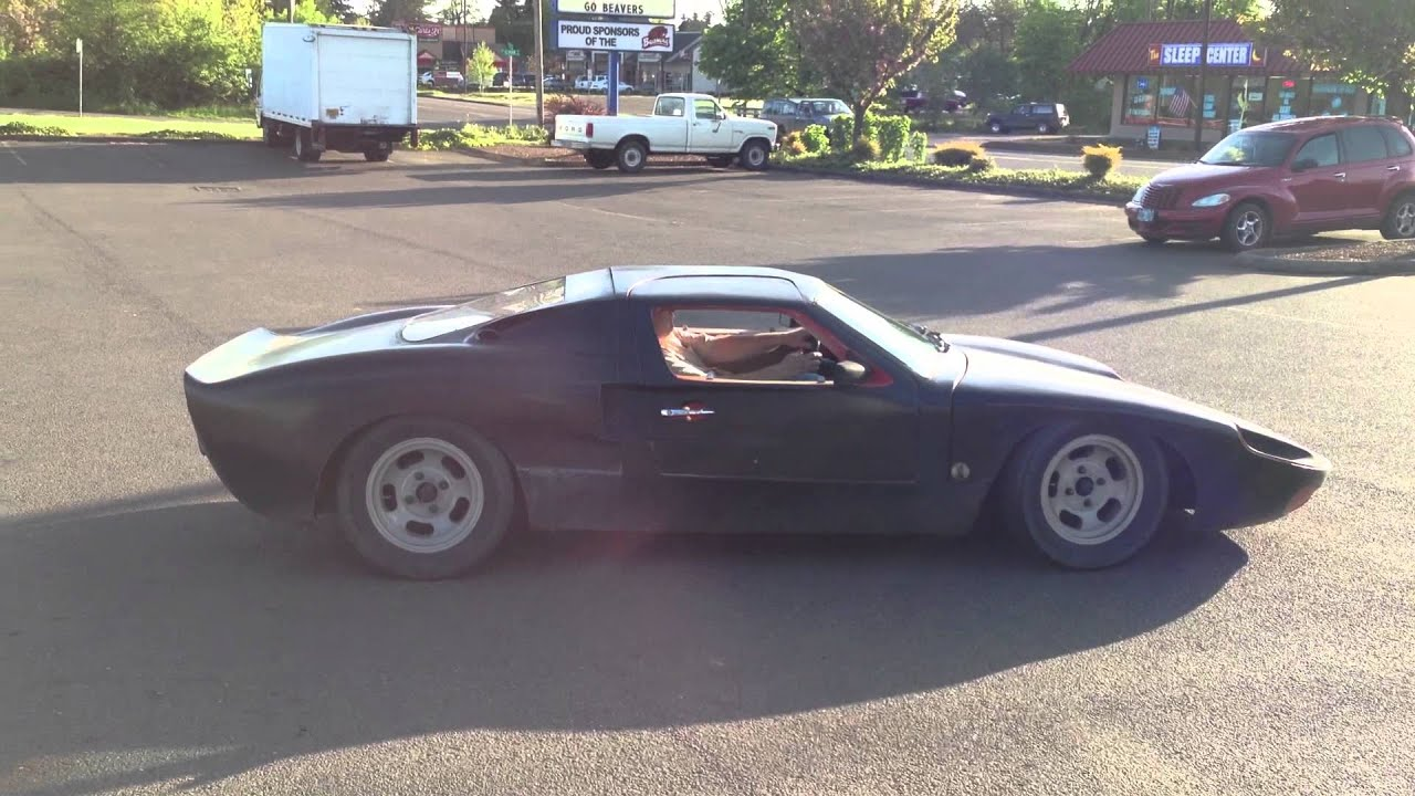 Ford Gt kit car on Vw chassis - YouTube