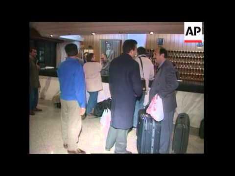 IRAQ: IAEA INSPECTORS ARRIVE IN BAGHDAD