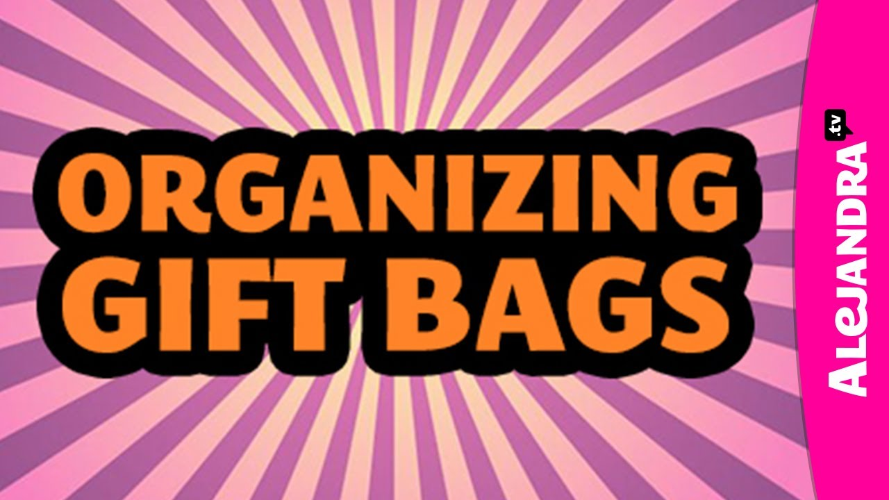 How To Organize Gift Bags U0026 Gift Tags W/ DC Professional Organizer  Alejandra Costello   YouTube