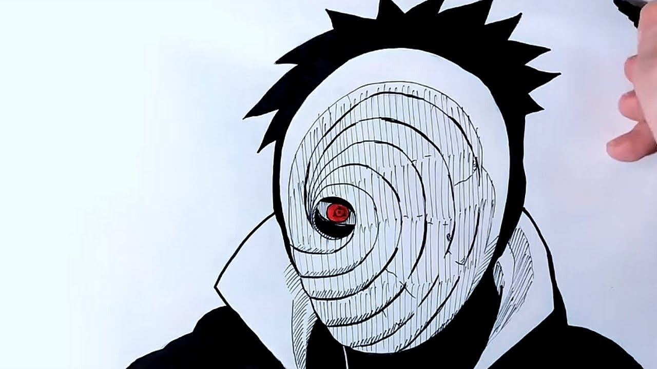 How To Draw Obito From Naruto