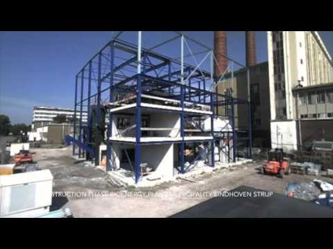 Timelapse construction phase bioenergy plant Strijp
