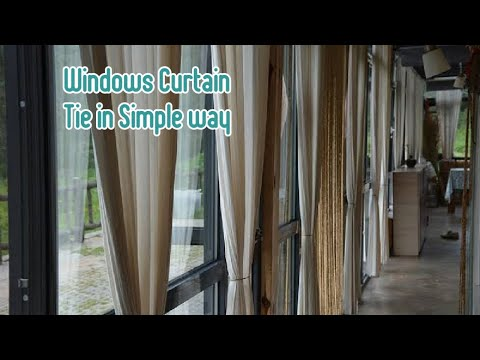 How to Tie Windows Curtains in a Simple way