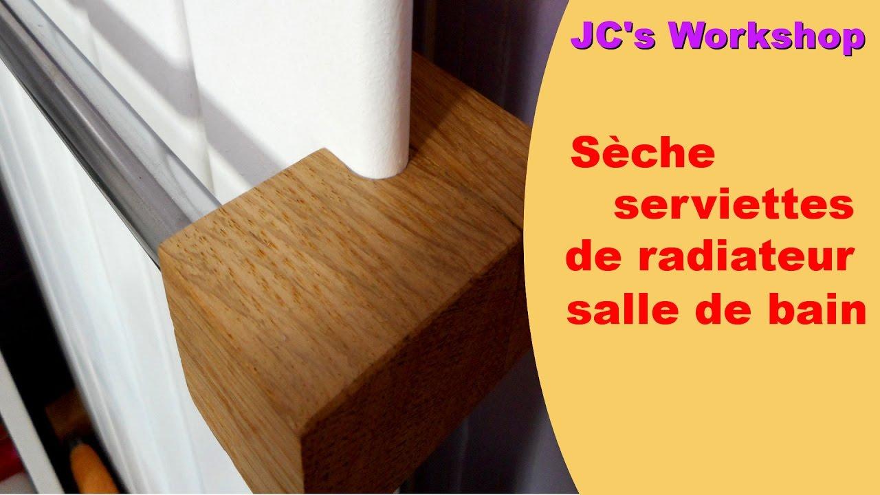 comment faire un s che serviette de radiateur eau chaude de salle de bain travail du bois 44. Black Bedroom Furniture Sets. Home Design Ideas