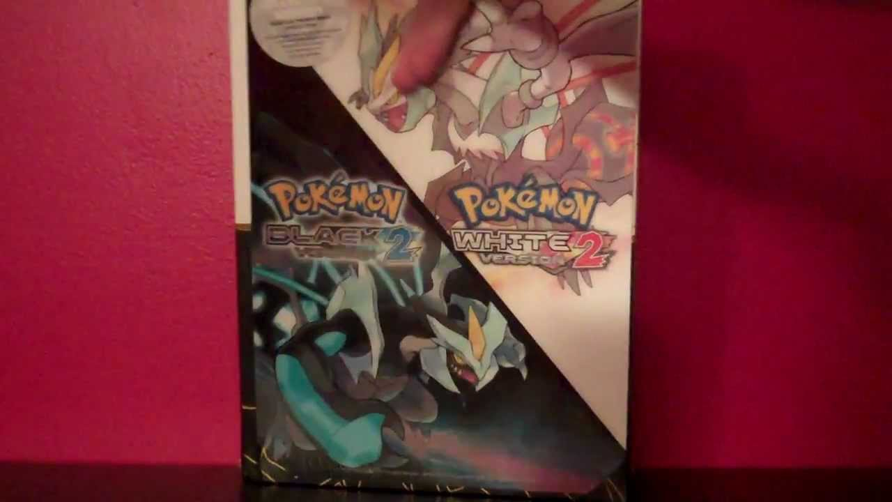 Unboxing pokemon black 2/white 2 collector's edition strategy.