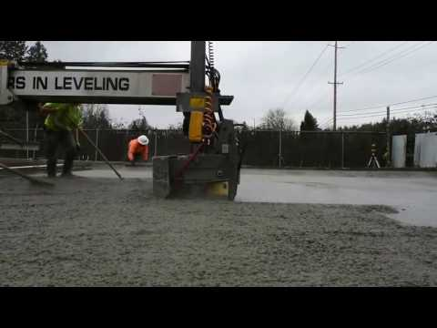 Laser Screed Making Concrete work almost effortless