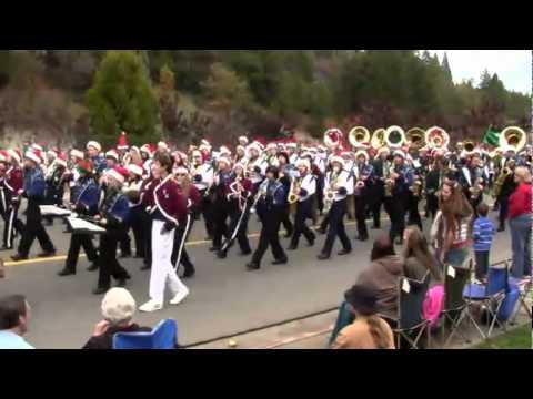 Unionponderadoridge Marching Band Christmas Parade - YouTube