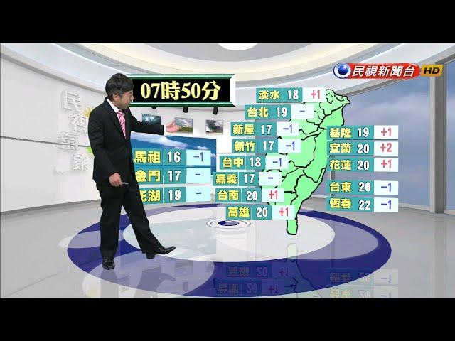 2020/01/07 週三、四東北季風增強 北台灣氣溫下降-民視新聞