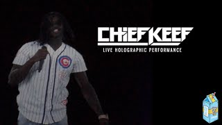 Holographic Chief Keef Shut Down by Police (Live Performance)