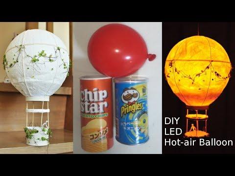 ★DIY★How to make★LED★Hot-air balloon★作ってみた