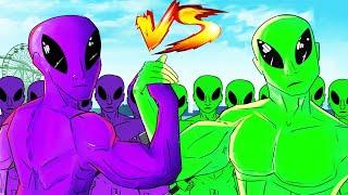 ALIENS ARE RUINING GTA 5! (Green VS Purple)