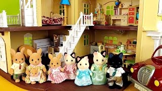 Sylvanian Families - Kangaroo Family and Tuxedo Cat Family / Сильваниан Фэмилис Кенгуру и Котики