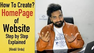 How To Create Homepage of Website | Step by Step Explained