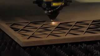 Cutting An MDF (medium Density Fiberboard) Panel