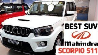 Mahindra Scorpio S11 2019   Scorpio 2019 Top Model Features   Interior and Exterior Full Review