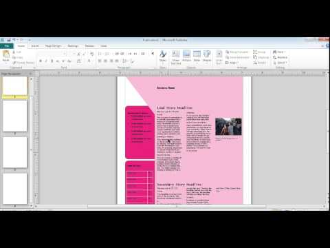 Cara membuat buletin di Microsoft Publisher 2010