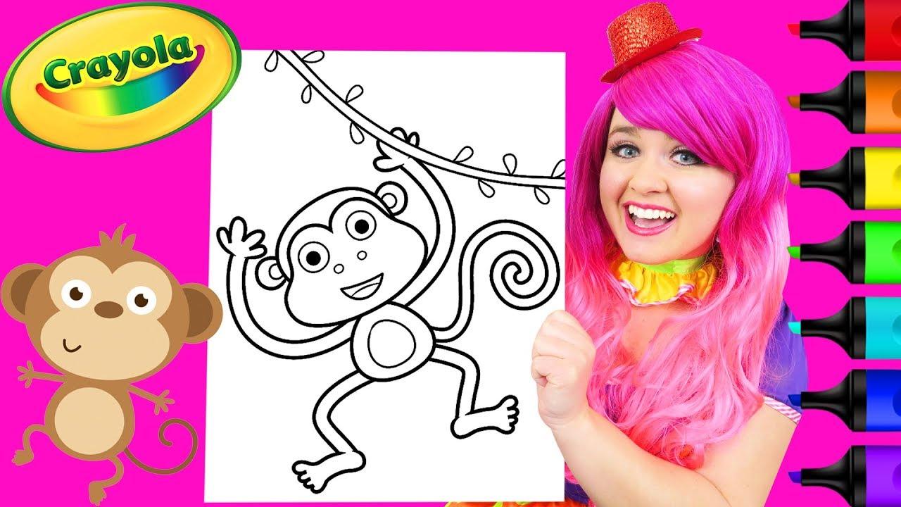 Coloring Cute Monkey Crayola Coloring Page Prismacolor ...