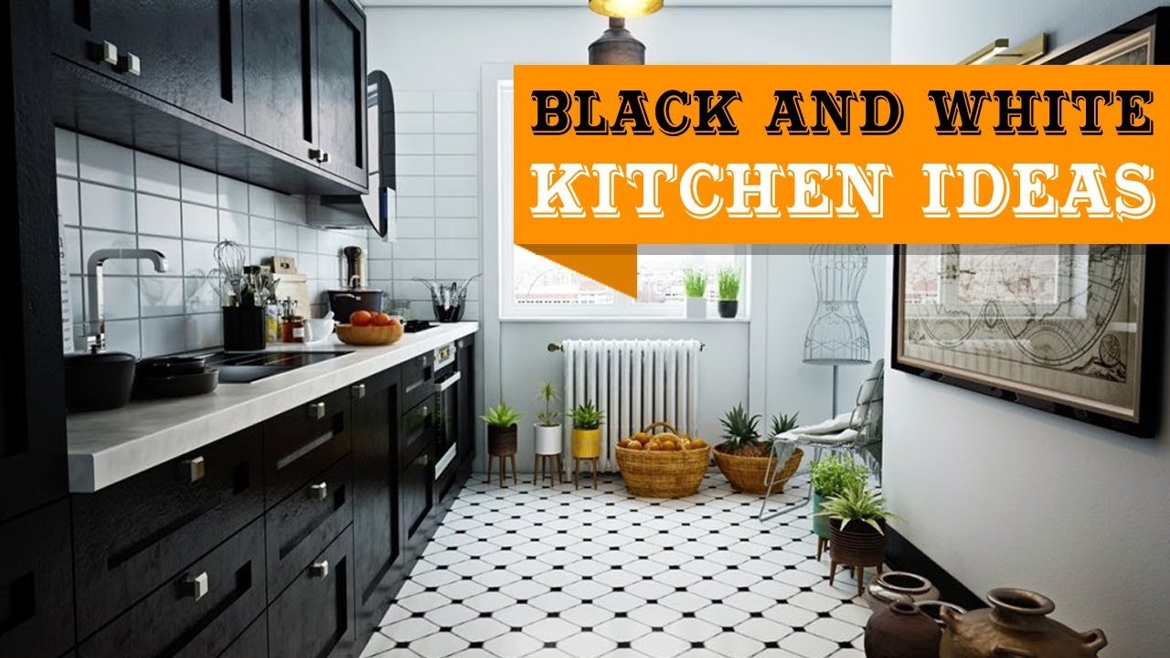 29 Elegant Black And White Kitchen Design Ideas Youtube