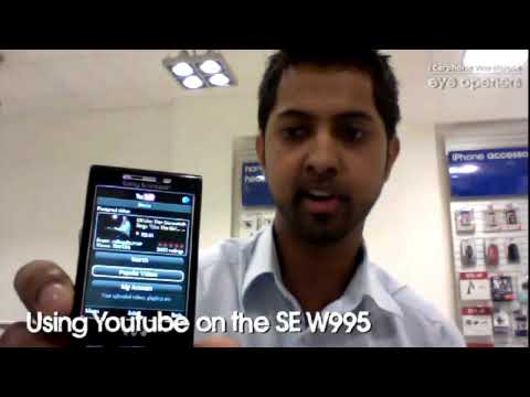 How to use YouTube on the Sony Ericsson W995 mobile phone